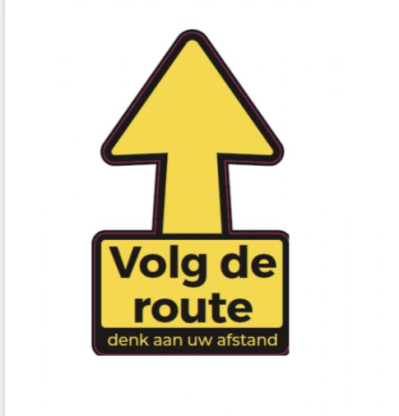 Volg de route vloersticker afbeelding 1