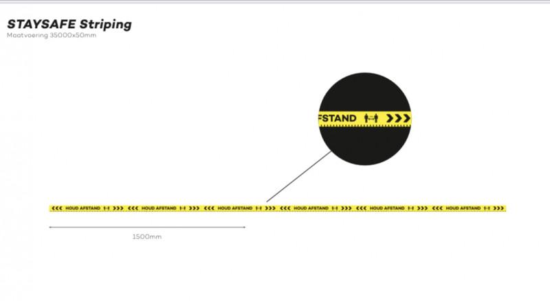 striping houd afstand 35mtr rol afbeelding 1