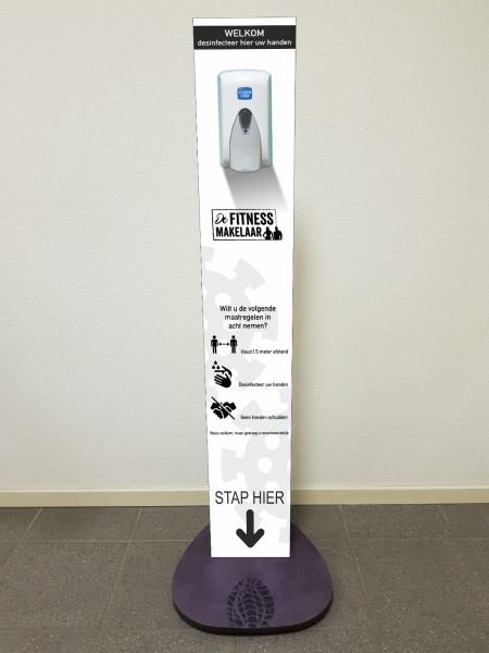 Dispenser op zuil kunststof afbeelding 1