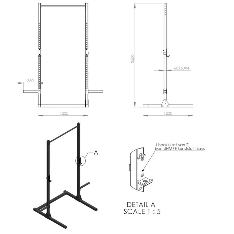 Outdoor Pull Up Basic Line afbeelding 2