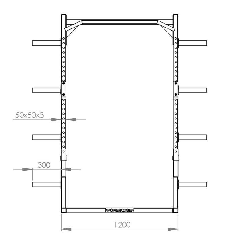 FM Cage Half Rack 503-18 Basic Line afbeelding 3