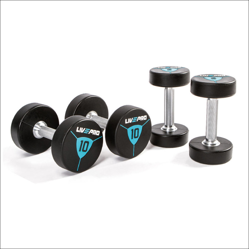 Premium Dumbellset 42-50kg ( per 2 kg ) Polyurethan 8000 afbeelding 1