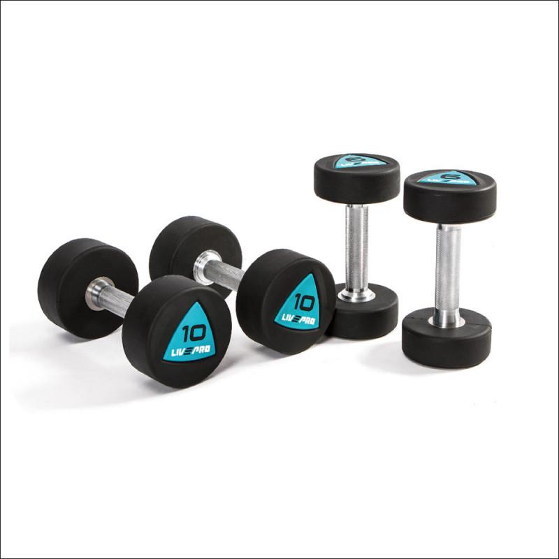 Premium Dumbellset 2-20kg ( per 2 kg ) Urethan 8002. afbeelding 1