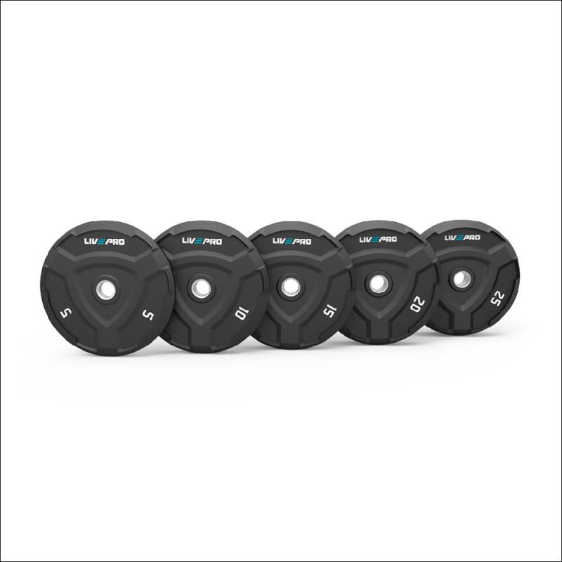 Set Halterschijven 50mm Rubber 5-25kg ( elke gewicht 2 stuks ) 8022 afbeelding 1