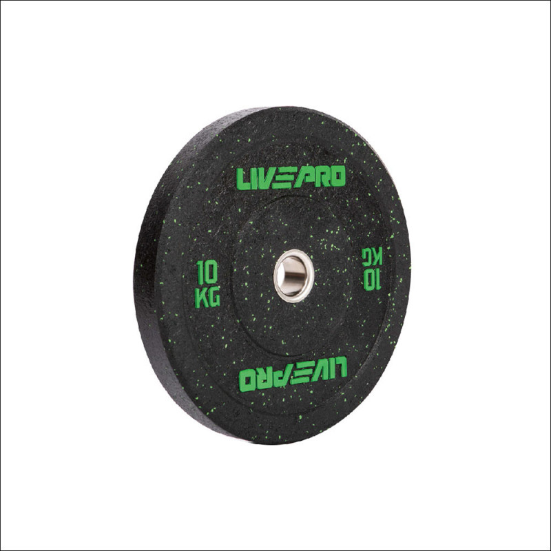 Set Bumper Plates 50mm Rubber-Granulat 5-25kg ( elke gewicht 2 stuks ) 8026 afbeelding 1