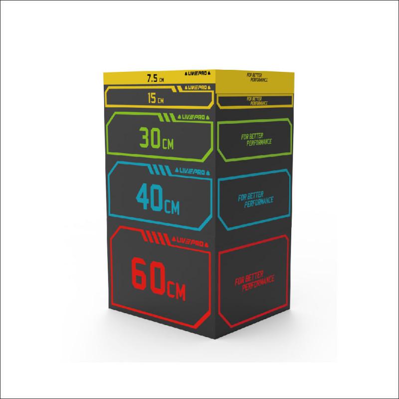 Soft Plyo Box set Heavy Duty 7,5/15/30/45/60cm (8154) afbeelding 1